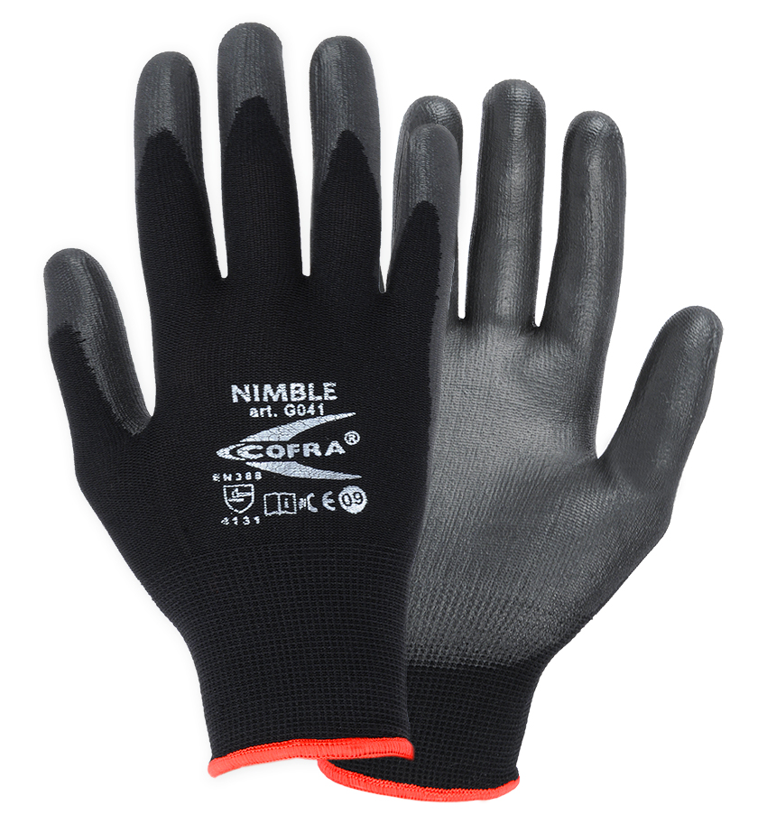 Cofra NIMBLE Protective PU gloves Size L