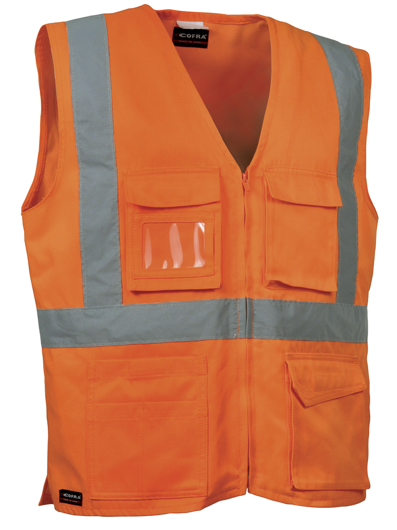 Cofra SEKI High Visibility Waistcoat (orange) Size L