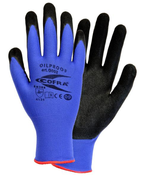 Cofra OILPROOF Protective nitrile gloves Size L